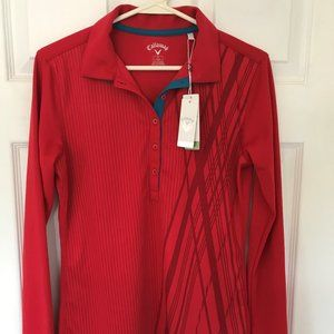 Women's Callaway Long Sleeved Polo-Small-NWT